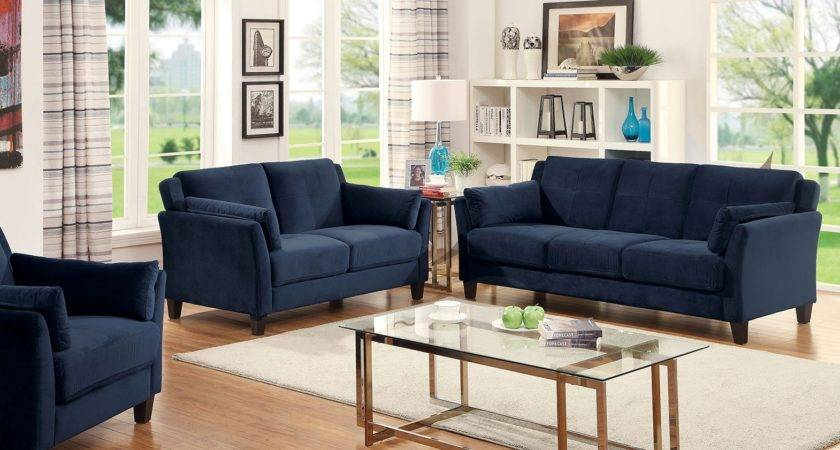 Sofa Outstanding Navy Blue Set Collection
