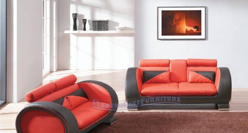 Sofa Sale Red Black Leather