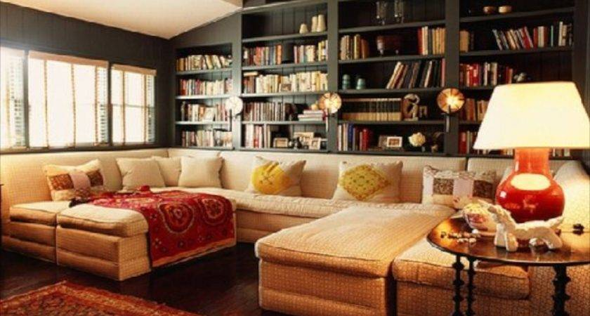 Sofas Bookcase Ideas Cozy Living Room Design