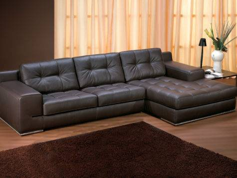 Sofas Fiori Leather Chaise Lounge Sofa