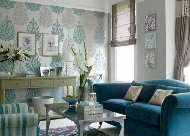 Soft Blue Living Room Design Superb