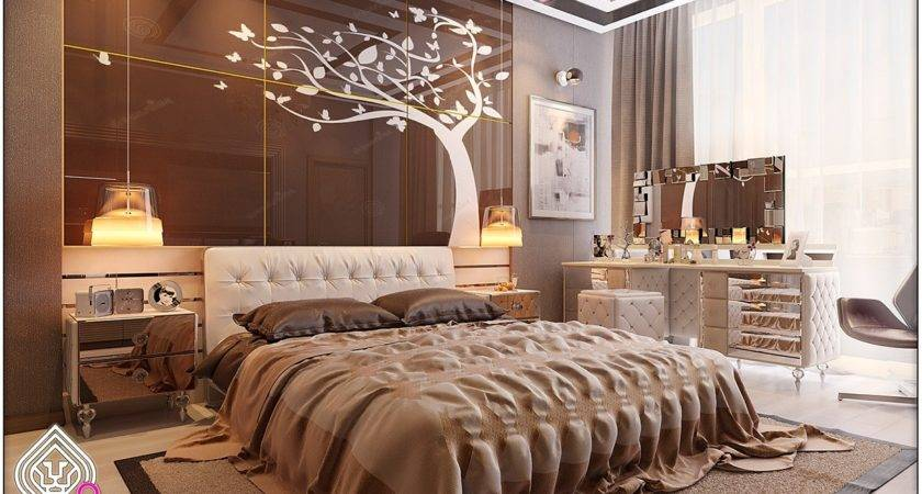 Soft Brown Bedroom Interior Design Ideas