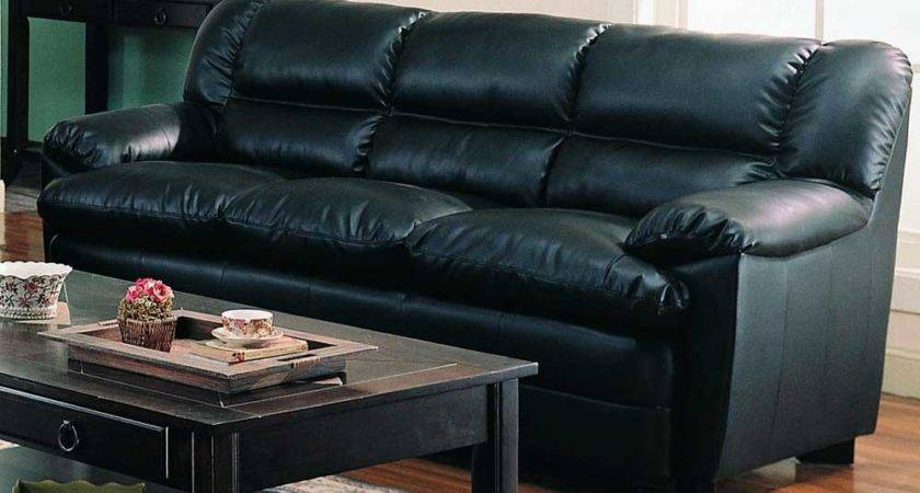 Soft Leather Sofa Set Black Couches Home Design