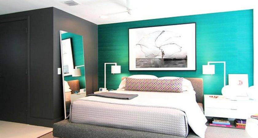 Soft Teal Bedroom Paint White Black Furniture Decor