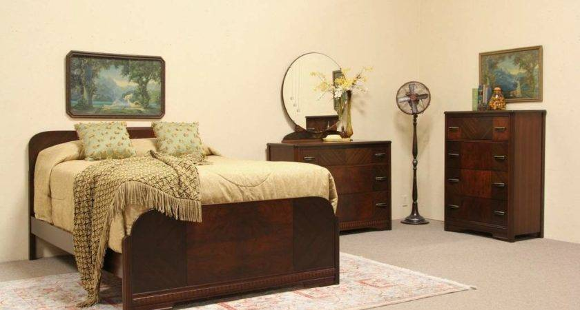 Sold Art Deco Bedroom Set Harp