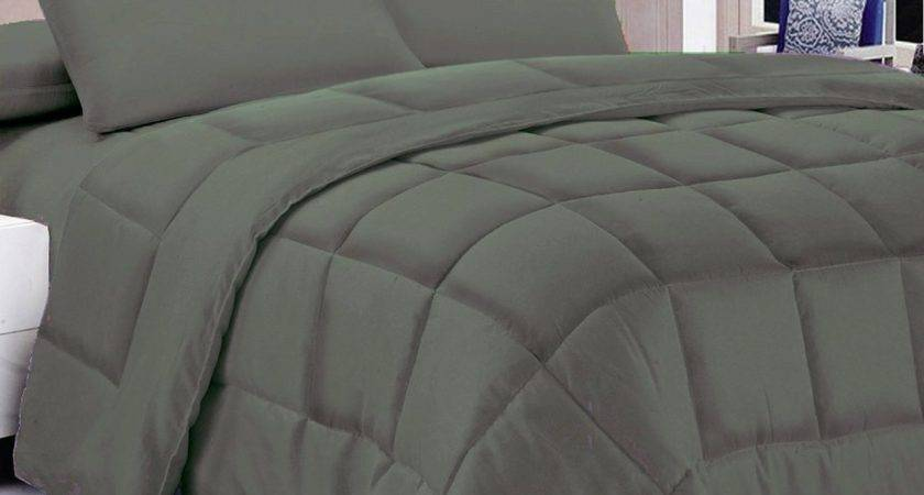 Solid Color Down Alternative Comforters Sheet People