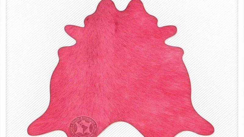 Solid Dyed Hot Pink Natural Brazilian Cowhide Rug Other