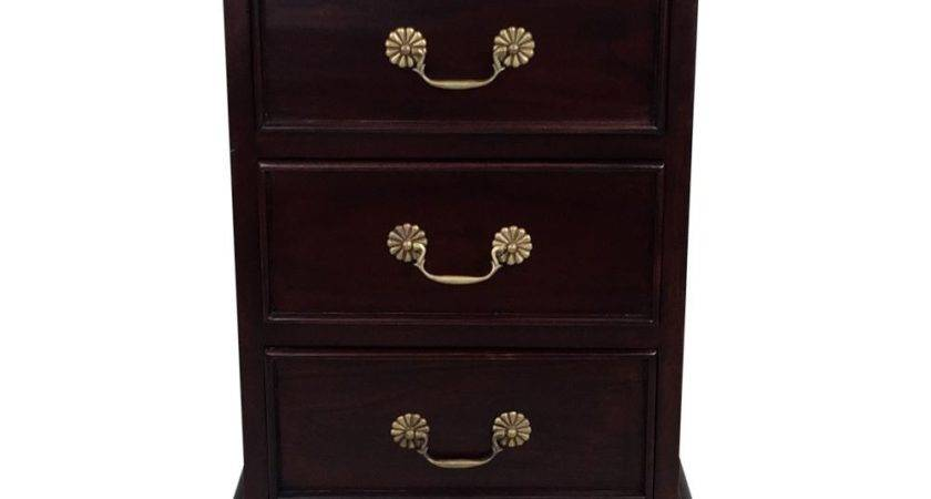 Solid Mahogany Wood Victorian Bedside Table Antique Style