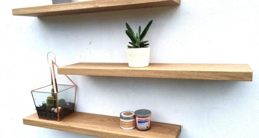 Solid Oak Floating Shelves Order Brackets