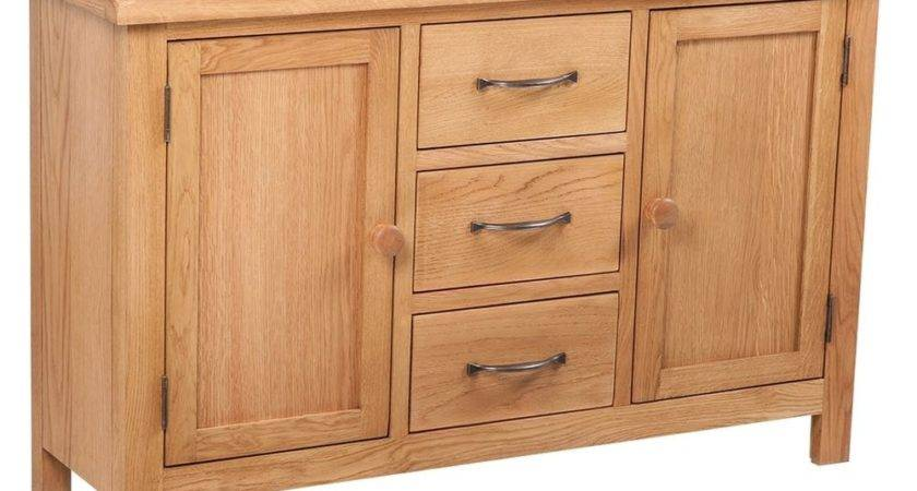 Solid Oak Timber Sideboard Drawer Cupboard Buffet