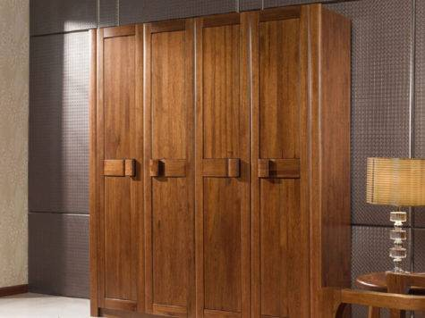 Solid Wood Four Doors Wardrobe House