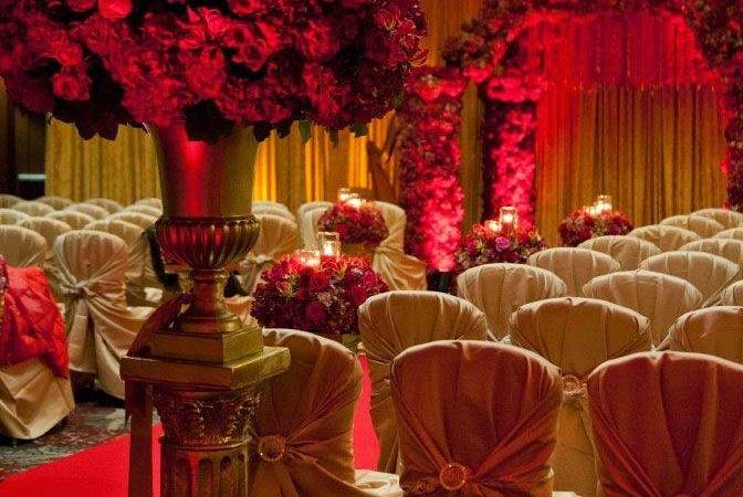 Sonal Shah Event Consultants Llc Red Gold Decor Ideas
