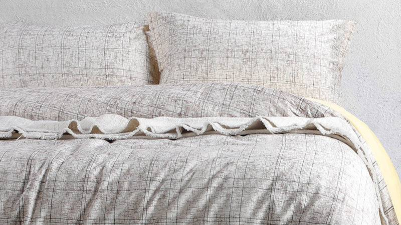 Soothing Brown Grey Cotton Bedding Set Ebeddingsets