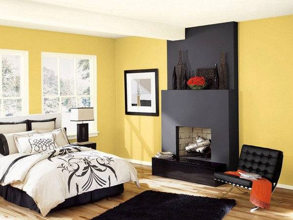 Sophisticated Black Yellow Bedrooms Home Design Lover