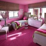 Sophisticated Girl Room Palette Linen Hot Pink