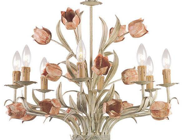 Southport Sage Green Wrought Iron Chandelier Modern
