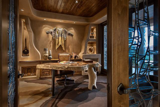 Southwest Contemporary Southwestern Home Office