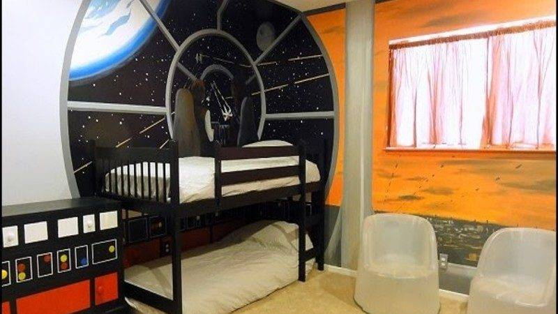 Space Bedroom Decor Outer Boys
