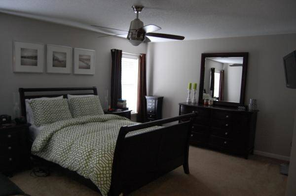 Space Grey Walls Black Furniture Color Accents