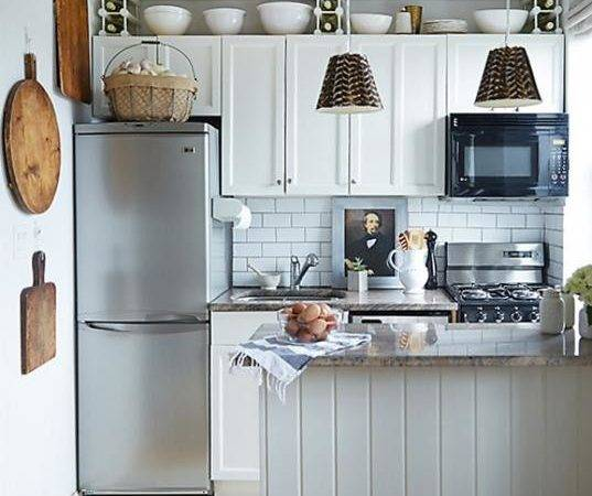 Space Saving Small Kitchens Color Design Ideas