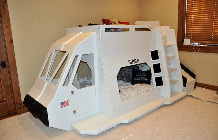 Space Shuttle Bunk Bed Indoor Playhouse Loft