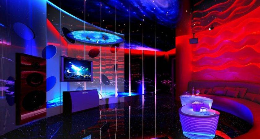 Space Themed Interior Decoration Ktv Room
