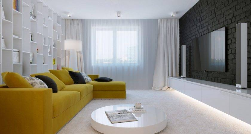 Spacious Contemporary Living Room Interior Design Ideas