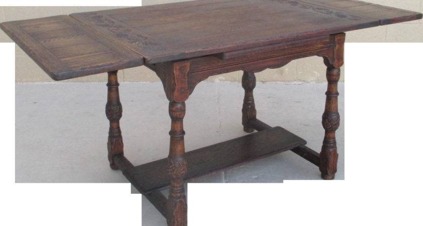 Spanish Style Oak Cottage Dining Table Leaves Sold