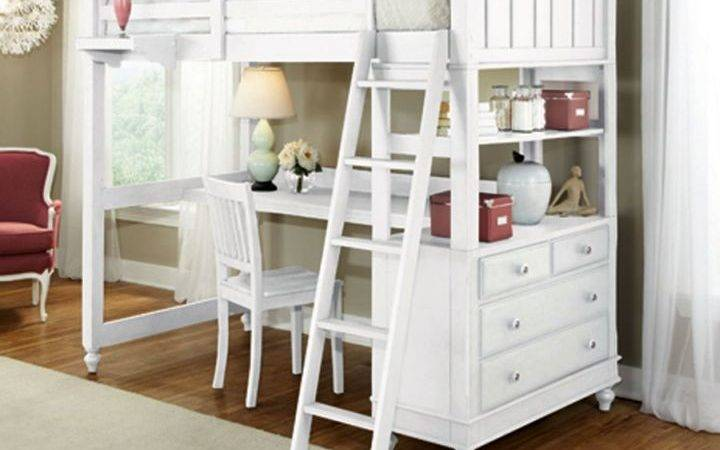 Spiffy White Loft Bed Desk Designs