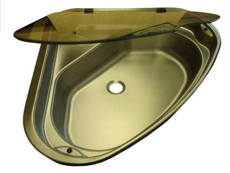 Spinflo Triangle Stainless Steel Caravan Sink Glass