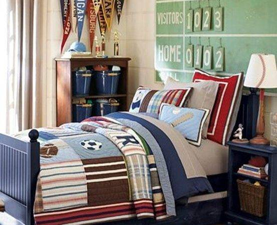 Sports Themed Boy Room