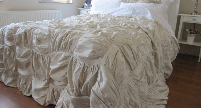 Square Ruched Bedding Duvet Cover French Country
