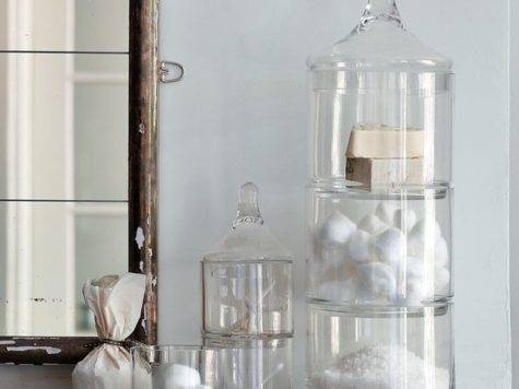 Stacked Apothecary Jars Traditional Bathroom Canisters