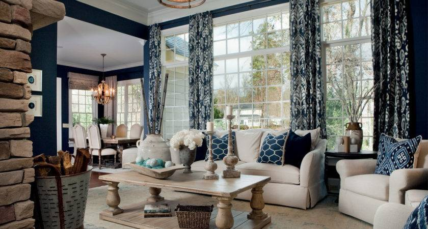 Staggering Navy Curtains Decorating Ideas Living Room