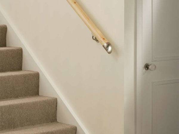 Stair Banister Wall Mounted Lambs Tongue Handrails