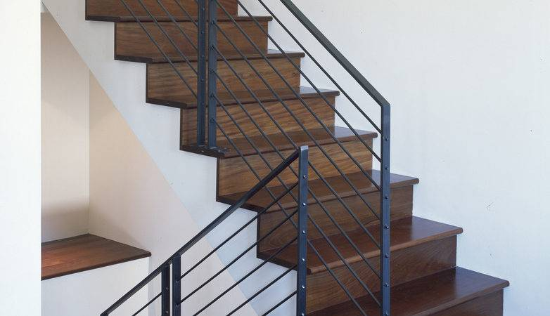 Stair Railing Ideas Staircase Contemporary Black Door