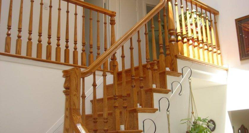 Stairs Glamorous Wooden Stair Railing Cool