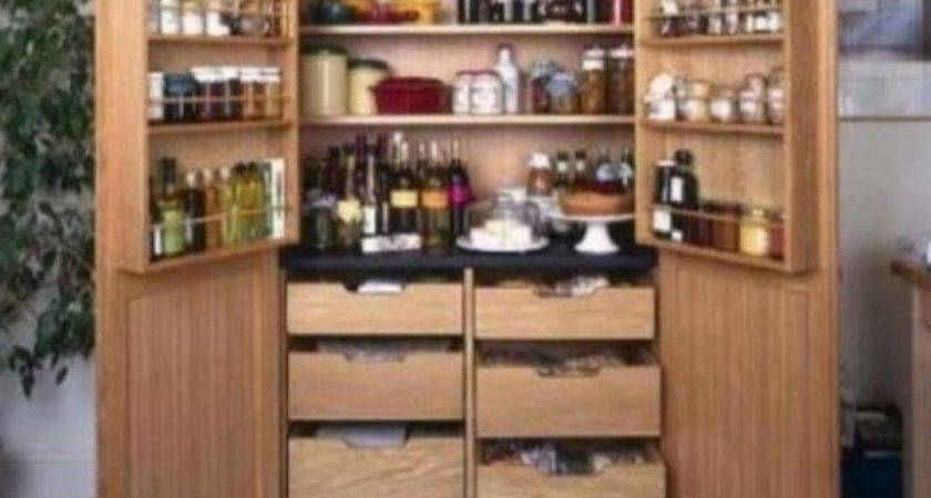 Standing Kitchen Pantry Units Cabinet Side