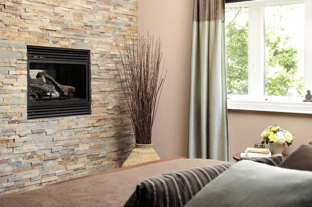 Stone Feature Wall Fireplace