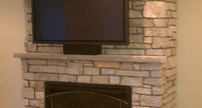 Stone Fireplace Above Ideas