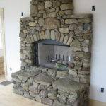Stone Fireplace Natural Manufactured