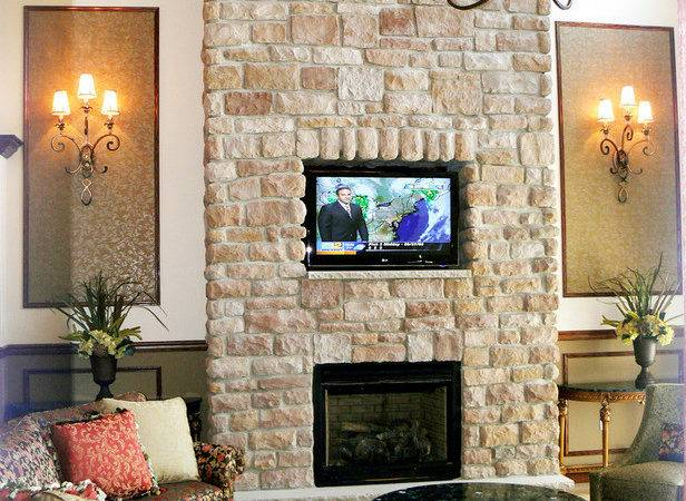 Stone Fireplace Wall Inset Hgtv