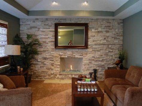 Stone Living Room Ideas Traditional