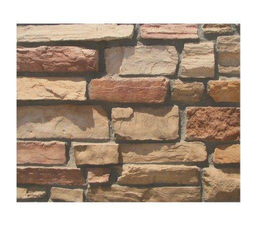 Stone Wall Wood Decor Zazzle