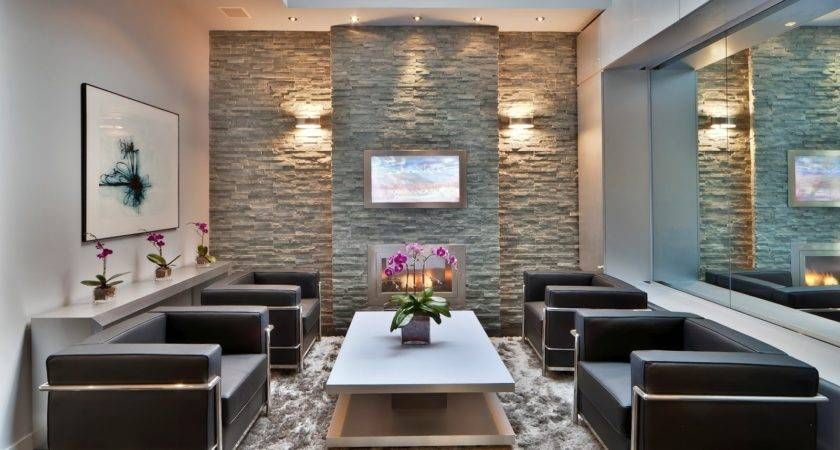 Stone Wall Your Living Room Brilliant Ideas