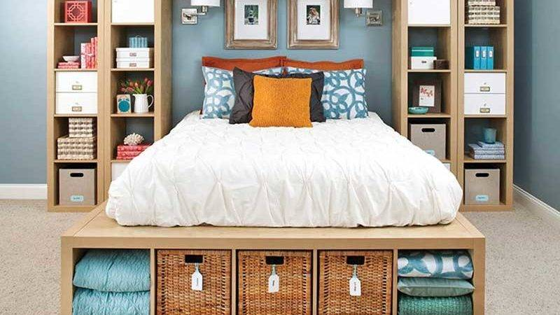 Storage Ideas Small Bedrooms Design Decorating