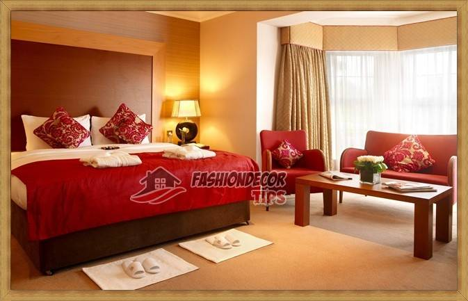 Stunning Red Bedroom Wall Colors Decorating