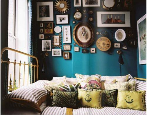 Style Inspiration Peacock Blue Deep Teal Walls Swoon
