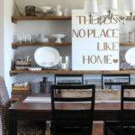 Styled Dining Room Shelving Wood Grain Cottage