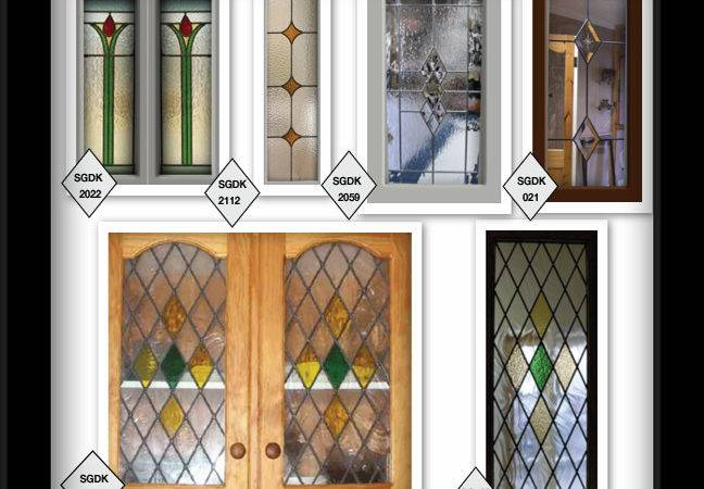 Styles Glass Lead Stain Cabinet Door Inserts